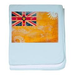 Niue Flag baby blanket