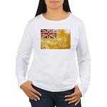 Niue Flag Women's Long Sleeve T-Shirt