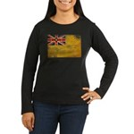 Niue Flag Women's Long Sleeve Dark T-Shirt