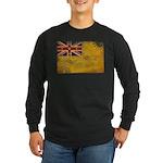 Niue Flag Long Sleeve Dark T-Shirt