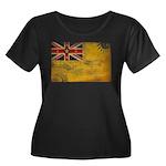 Niue Flag Women's Plus Size Scoop Neck Dark T-Shir