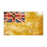 Niue Flag 38.5 x 24.5 Wall Peel