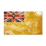 Niue Flag 22x14 Wall Peel