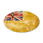 Niue Flag 38.5 x 24.5 Oval Wall Peel