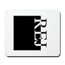 REJ Typography Mousepad