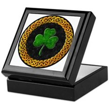 Celtic Irish Shamrock Keepsake Box
