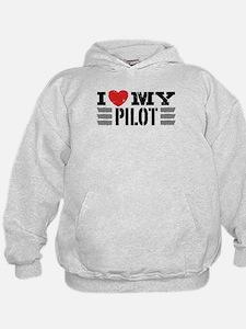 I Love My Pilot Hoodie