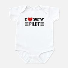I Love My Pilot Infant Bodysuit