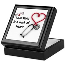Nurses Work of Heart Keepsake Box