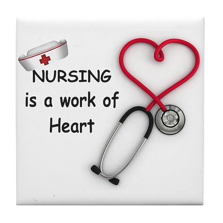 Nurses Work of Heart Tile Coaster