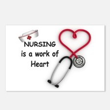 Nurses Work of Heart Postcards (Package of 8)
