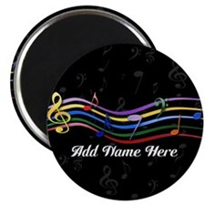 Personalized Rainbow Musical Magnet