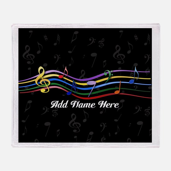 Personalized Rainbow Musical Throw Blanket