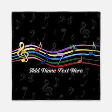 Personalized Rainbow Musical Queen Duvet