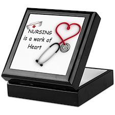 Nurses Work of Heart Keepsake Box