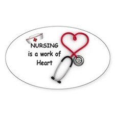 Nurses Work of Heart Decal