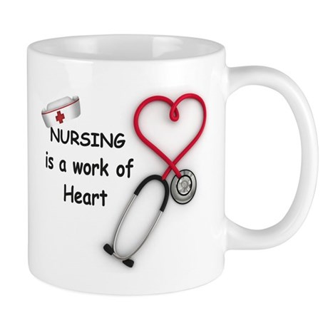 Nurses Work of Heart Mug