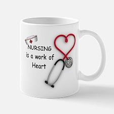Nurses Work of Heart Mug
