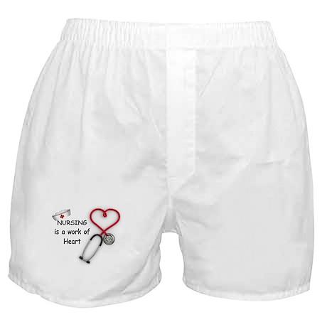 Nurses Work of Heart Boxer Shorts