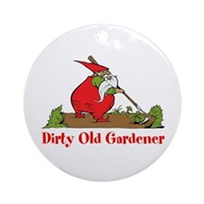 Dirty Old Gardener Ornament (Round)