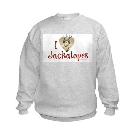 I love Jackalopes Kids Sweatshirt