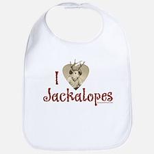 I love Jackalopes Bib