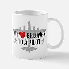 My Heart Belongs To A Pilot Mug