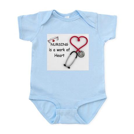 Nurses Work of Heart Infant Bodysuit