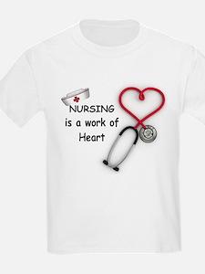 Nurses Work of Heart T-Shirt