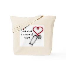 Nurses Work of Heart Tote Bag