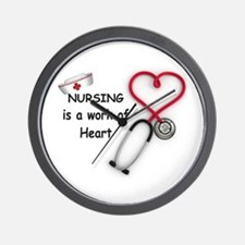 Nurses Work of Heart Wall Clock