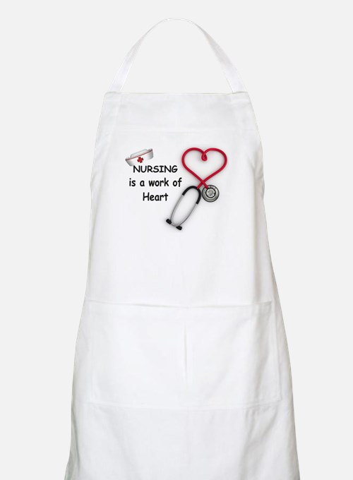 Nurses Work of Heart Apron