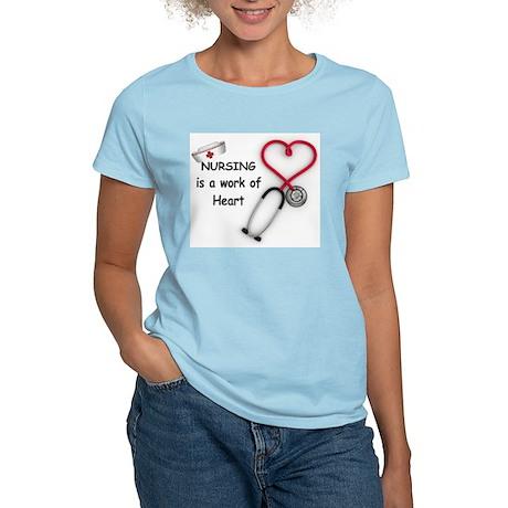 Nurses Work of Heart Women's Light T-Shirt