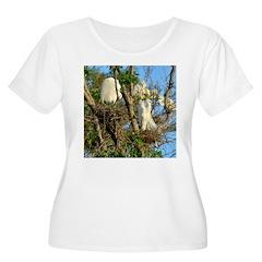 2000x2000cropped egrets Plus Size T-Shirt