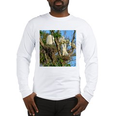 2000x2000cropped egrets Long Sleeve T-Shirt