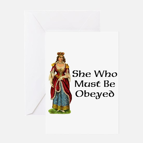 She's the Boss Greeting Card