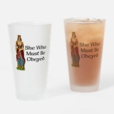 She's the Boss Drinking Glass