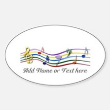 Personalized Rainbow Musical Sticker (Oval)