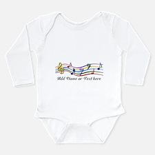 Personalized Rainbow Musical Long Sleeve Infant Bo