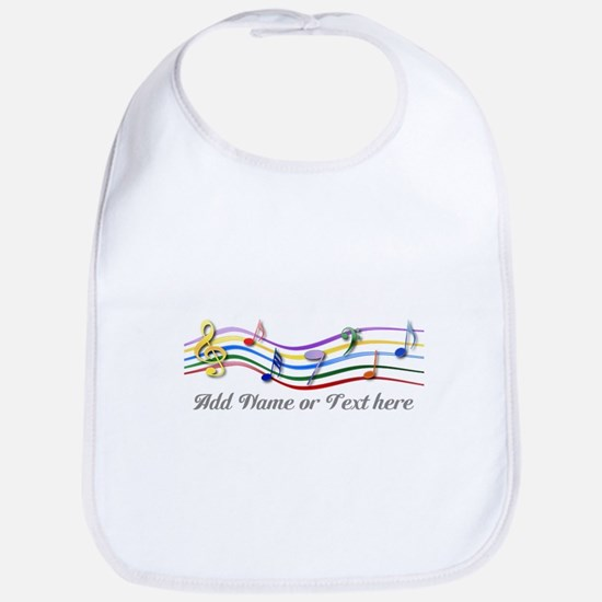 Personalized Rainbow Musical Bib