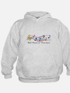 Personalized Rainbow Musical Hoodie