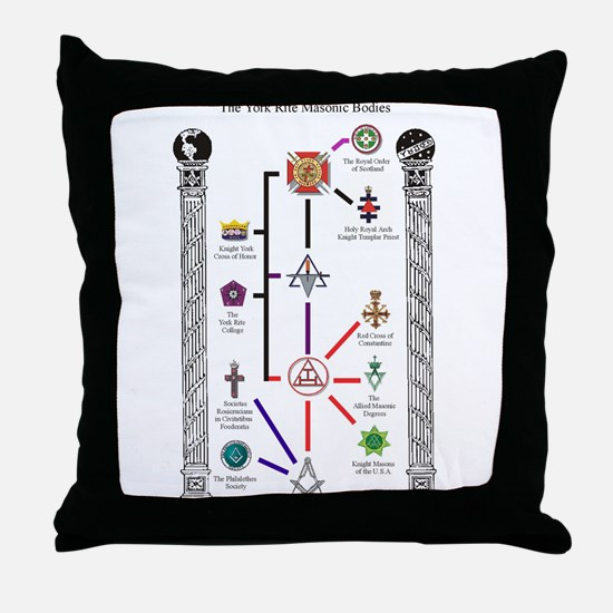 Appendant Bodies Chart Throw Pillow