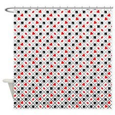 Playing Card Suits Shower Curtain