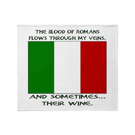 Italian Blood & Wine Throw Blanket