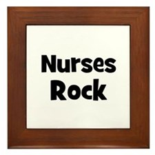 NURSES  Rock Framed Tile