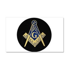 Blue Lodge S&C Car Magnet 20 x 12