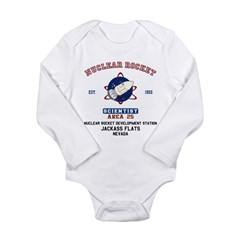 NUCLEAR ROCKET SCIENTIST Long Sleeve Infant Bodysu