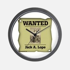 WANTED: Jack A. Lope Wall Clock