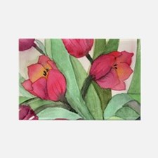 Tulips Rectangle Magnet