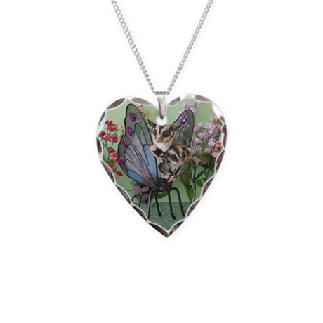 Butterfly #2 Necklace Heart Charm